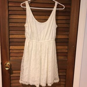 White lace Forever 21 dress.